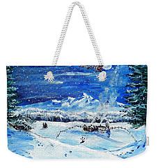 Christmas Wonderland Weekender Tote Bag by Shana Rowe Jackson