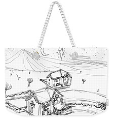 Christmassy Houses Weekender Tote Bag by Artists With Autism Inc
