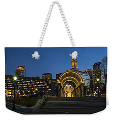 Christopher Columbus Park Boston Ma Trellis Custom House Weekender Tote Bag