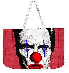 Weekender Tote Bag featuring the drawing Christopher Walken 2 by Jason Tricktop Matthews