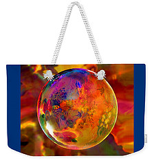 Chromatic Floral Sphere Weekender Tote Bag by Robin Moline