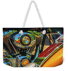 Weekender Tote Bag featuring the photograph Chrome And Color by Samuel M Purvis III