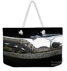 Weekender Tote Bag featuring the photograph Chrome Bumper by Mary-Lee Sanders