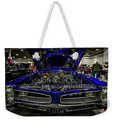 Weekender Tote Bag featuring the photograph Chromed Goat by Randy Scherkenbach