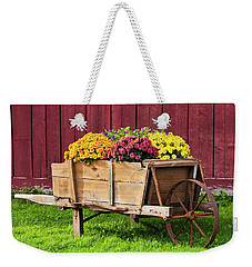 Weekender Tote Bag featuring the photograph Chrysanthemum Cart by Alan L Graham