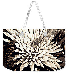 Weekender Tote Bag featuring the photograph Chrysanthemum In Sepia 2  by Sarah Loft