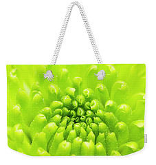 Chrysanthemum Macro Weekender Tote Bag by Wim Lanclus