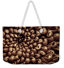 Chrysanthemum Sepia Weekender Tote Bag by Wim Lanclus