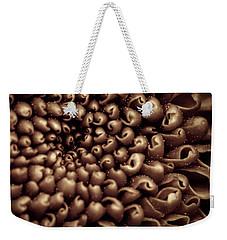Chrysanthemum Sepia Weekender Tote Bag