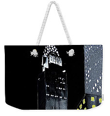 Chrysler Building At Night Weekender Tote Bag