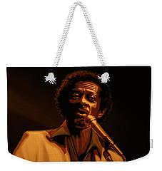 Chuck Berry Gold Weekender Tote Bag by Paul Meijering