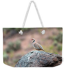 Weekender Tote Bag featuring the photograph Chukar Partridge 2 by Leland D Howard