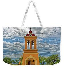 Weekender Tote Bag featuring the photograph Church Agios Georgios Corfu by Leigh Kemp