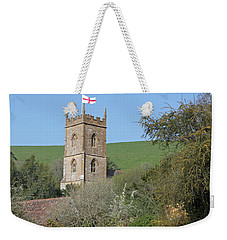 Church And The Flag Weekender Tote Bag by Linda Prewer