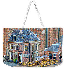 Weekender Tote Bag featuring the photograph Church Cafe In Groningen by Frans Blok