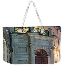 Weekender Tote Bag featuring the photograph Church Door by Juli Scalzi
