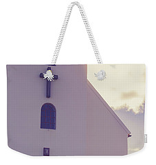Weekender Tote Bag featuring the photograph Church Iceland by Edward Fielding