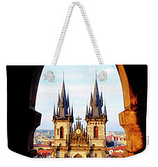 Weekender Tote Bag featuring the photograph Church Of Our Lady Before Tyn by Fabrizio Troiani