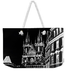 Weekender Tote Bag featuring the photograph Church Of Our Lady Before Tyn. Night Prague by Jenny Rainbow