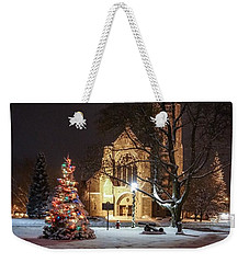 Weekender Tote Bag featuring the photograph Church Of St Mary St Paul At Christmas by Kendall McKernon