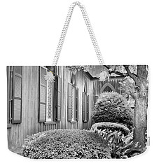 Church Of The Cross Bluffton Sc Black And White Weekender Tote Bag
