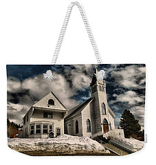 Weekender Tote Bag featuring the photograph Church Of The Immaculate Conception Roslyn Wa by Jeff Swan