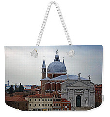 Church Of The Santissimo Redentore On Giudecca Island In Venice Italy Weekender Tote Bag