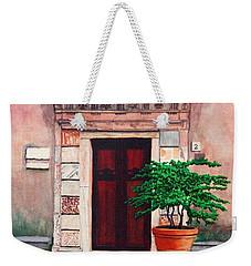 Church Side Door - Taormina Sicily Weekender Tote Bag by Mike Robles