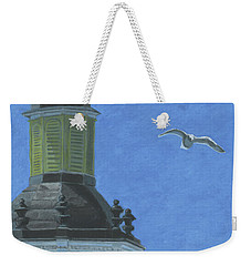 Church Steeple With Seagull Weekender Tote Bag