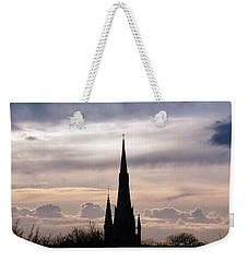 Church Top Silhouette Weekender Tote Bag