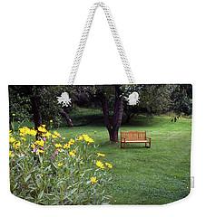 Churchyard Bench - Woodstock, Vermont Weekender Tote Bag