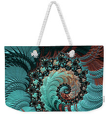 Churning Sea Fractal Weekender Tote Bag