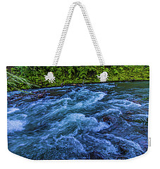Weekender Tote Bag featuring the photograph Churning Water by Jonny D