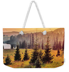 Weekender Tote Bag featuring the photograph Chusovaya River by Vladimir Kholostykh