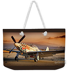 Cielos Llcs P-51 Mustang Buzzin Cuzzin  44-84735 Version 2 Weekender Tote Bag