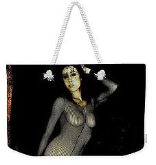 Weekender Tote Bag featuring the digital art Ciena 1 by Mark Baranowski