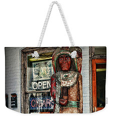 Weekender Tote Bag featuring the photograph Cigar Store Indian by Paul Ward