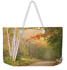 Cilley Hill Road In Underhill Vermont. Weekender Tote Bag