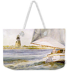 Cimba At Bird Island Light Weekender Tote Bag by P Anthony Visco