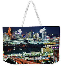 Cincinnati And Covington Collide Weekender Tote Bag
