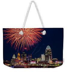 Cincinnati Fireworks Weekender Tote Bag