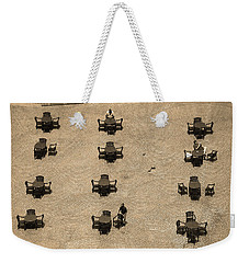Cincinnati - Fountain Square Sepia Weekender Tote Bag by Frank Romeo