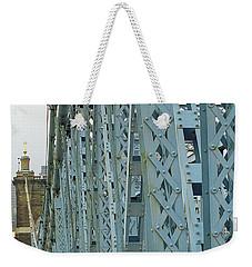 Cincinnati - Roebling Bridge 3 Weekender Tote Bag by Frank Romeo
