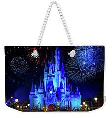 Cinderella Castle Fireworks Weekender Tote Bag by Mark Andrew Thomas