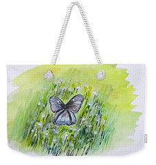 Cindy's Butterfly Weekender Tote Bag by Clyde J Kell