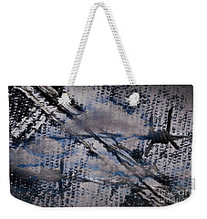 Weekender Tote Bag featuring the mixed media Cinereal by Lita Kelley
