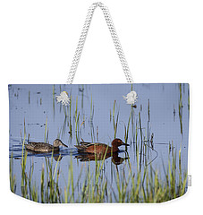 Cinnamon Teal Pair Weekender Tote Bag