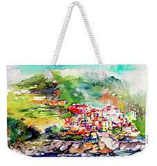 Cinque Terre Italy Corniglia Travel Memories Weekender Tote Bag