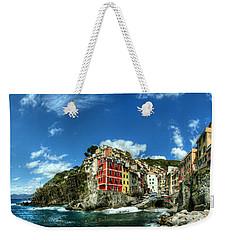 Cinque Terre - View Of Riomaggiore Weekender Tote Bag