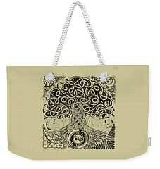 Circle Celtic Tree Of Life Inked Weekender Tote Bag